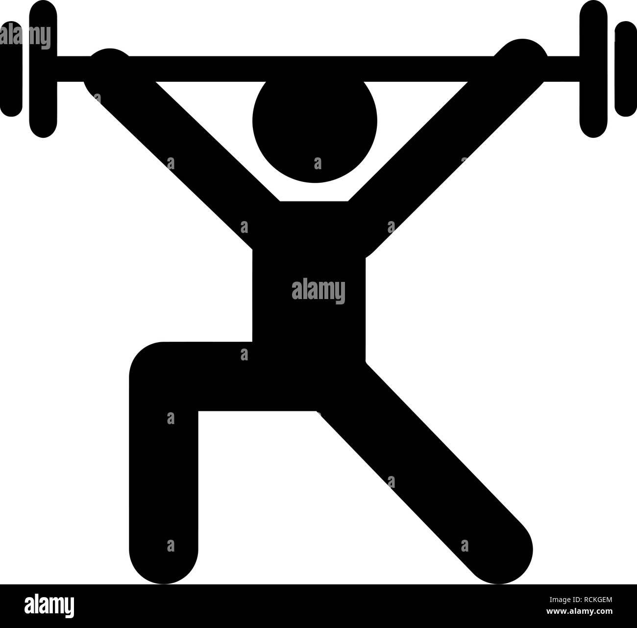 weight training sport athlete body builder fitness silhouette vector illustration - Stock Vector