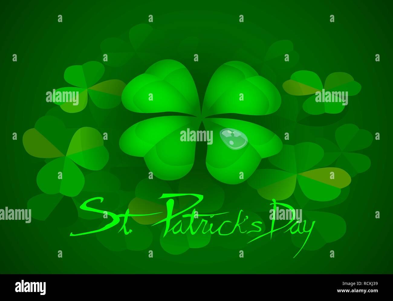 Lucky Pattys Day St Four Leaf Clover