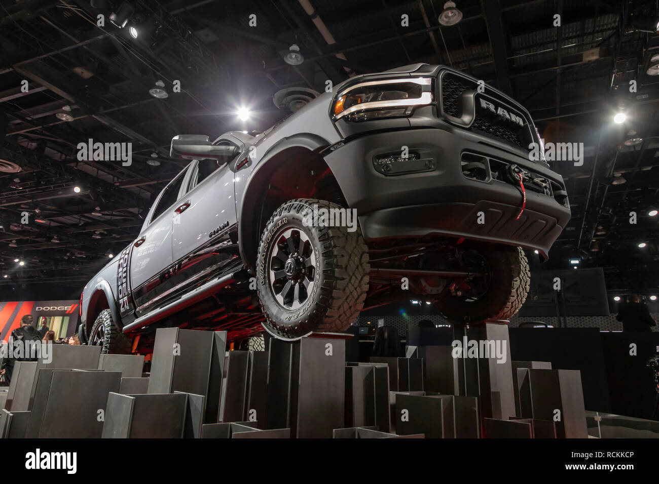 Detroit, Michigan - The 2019 Ram Power Wagon on display at the North American International Auto Show. - Stock Image