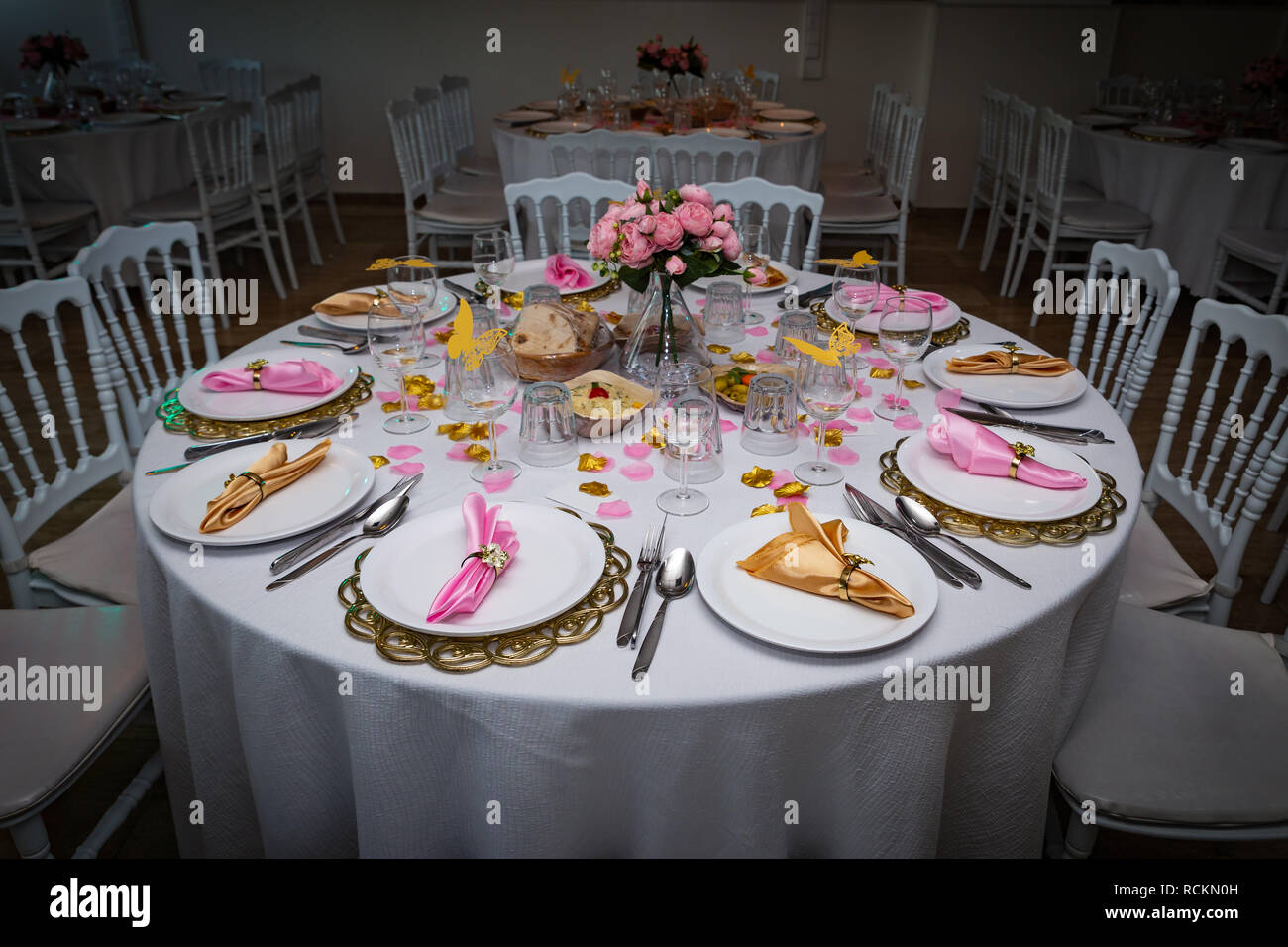 Arabic Iranian wedding table decoration - Stock Image