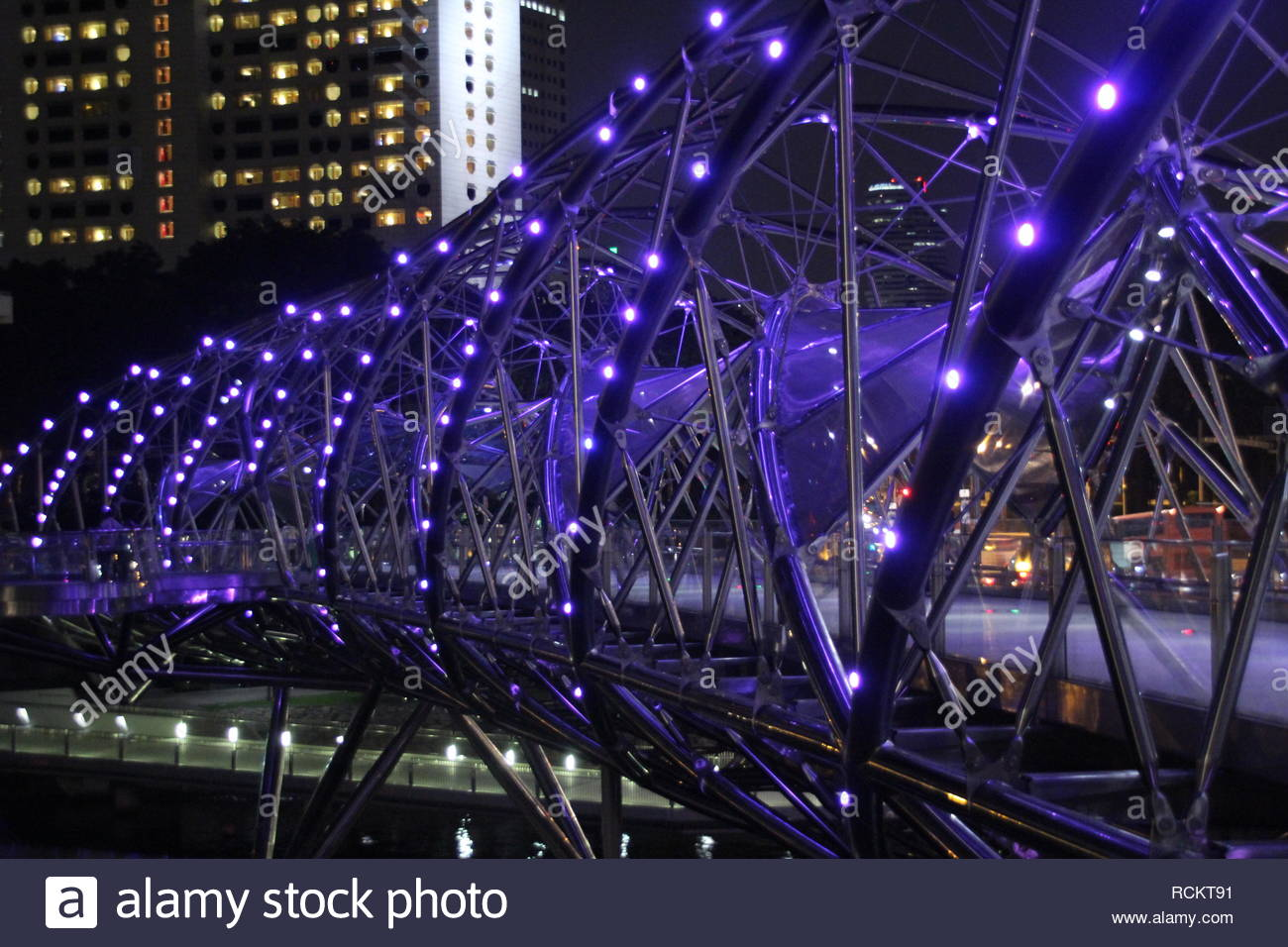 Singapore Flyer - The Wheel 165m - Stock Image