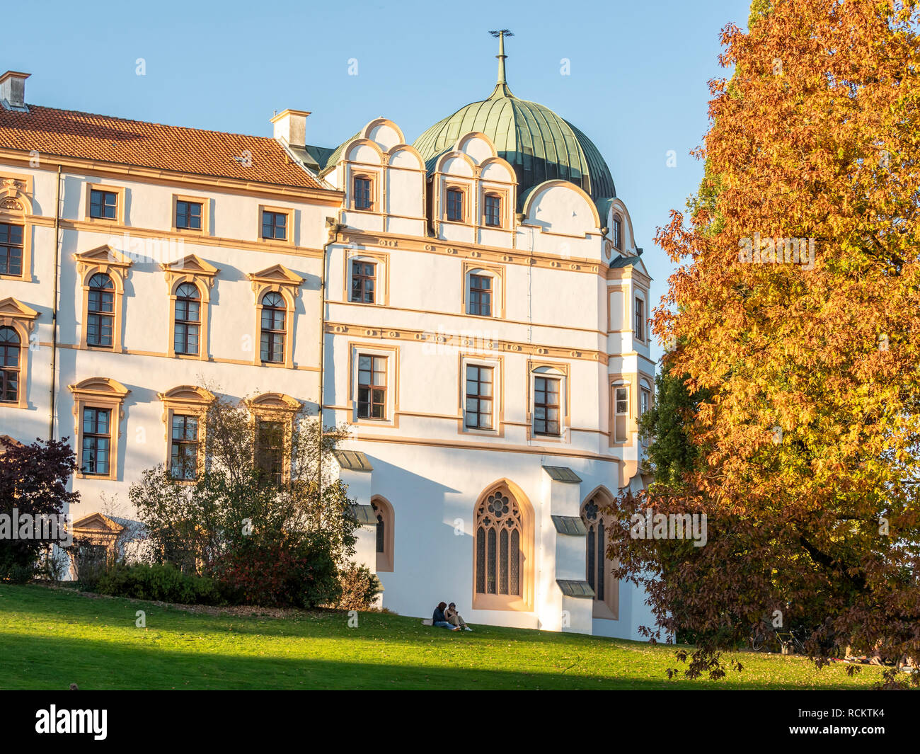 Celle Castle, Celler Schloss, autumn foliage, Celle, Germany - Stock Image