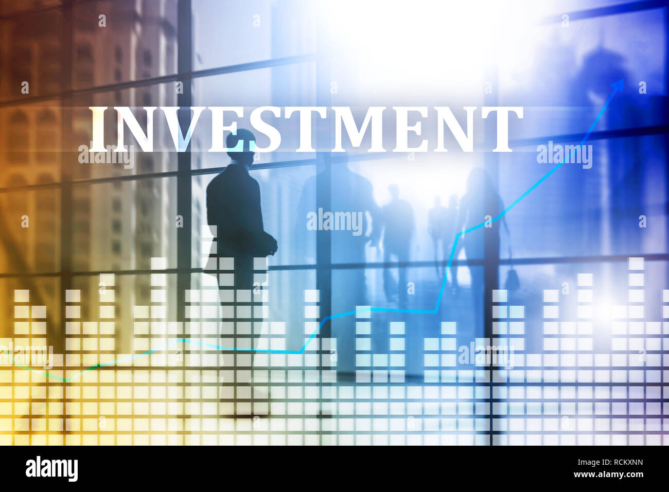 Investment, ROI, financial market concept. Business background - Stock Image