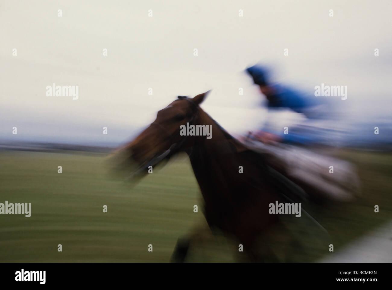 Grand National Horse race, Aintree, Liverpool, England UK. 1985 Stock Photo