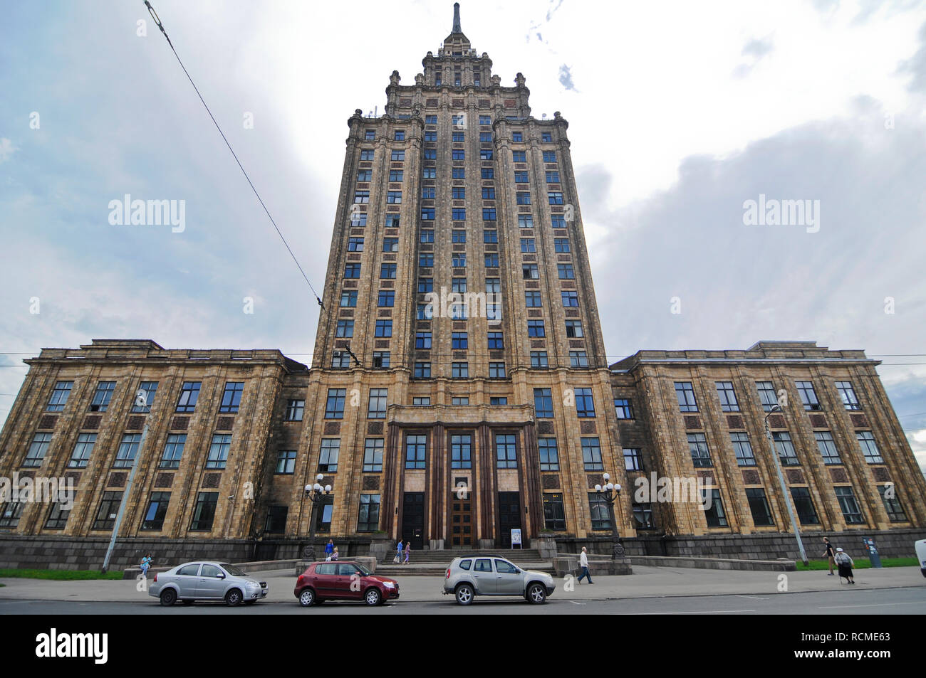 Latvian Academy of Sciences, Riga - Stock Image