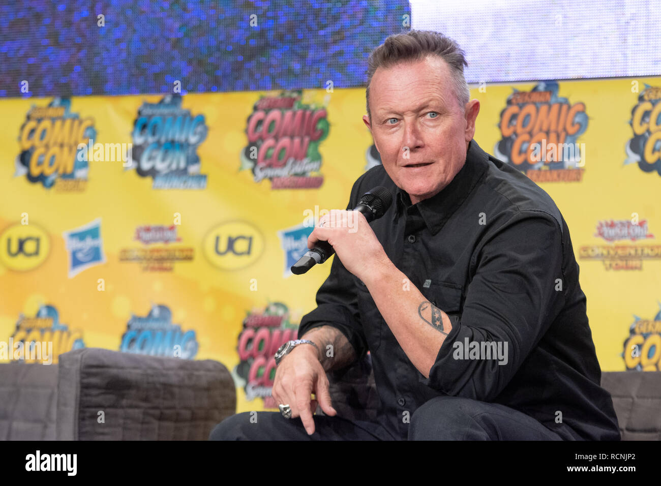 DORTMUND, GERMANY - December 1st 2018: Robert Patrick (*1958, actor, The X-Files, Terminator 2) at German Comic Con Dortmund, a two day fan convention - Stock Image