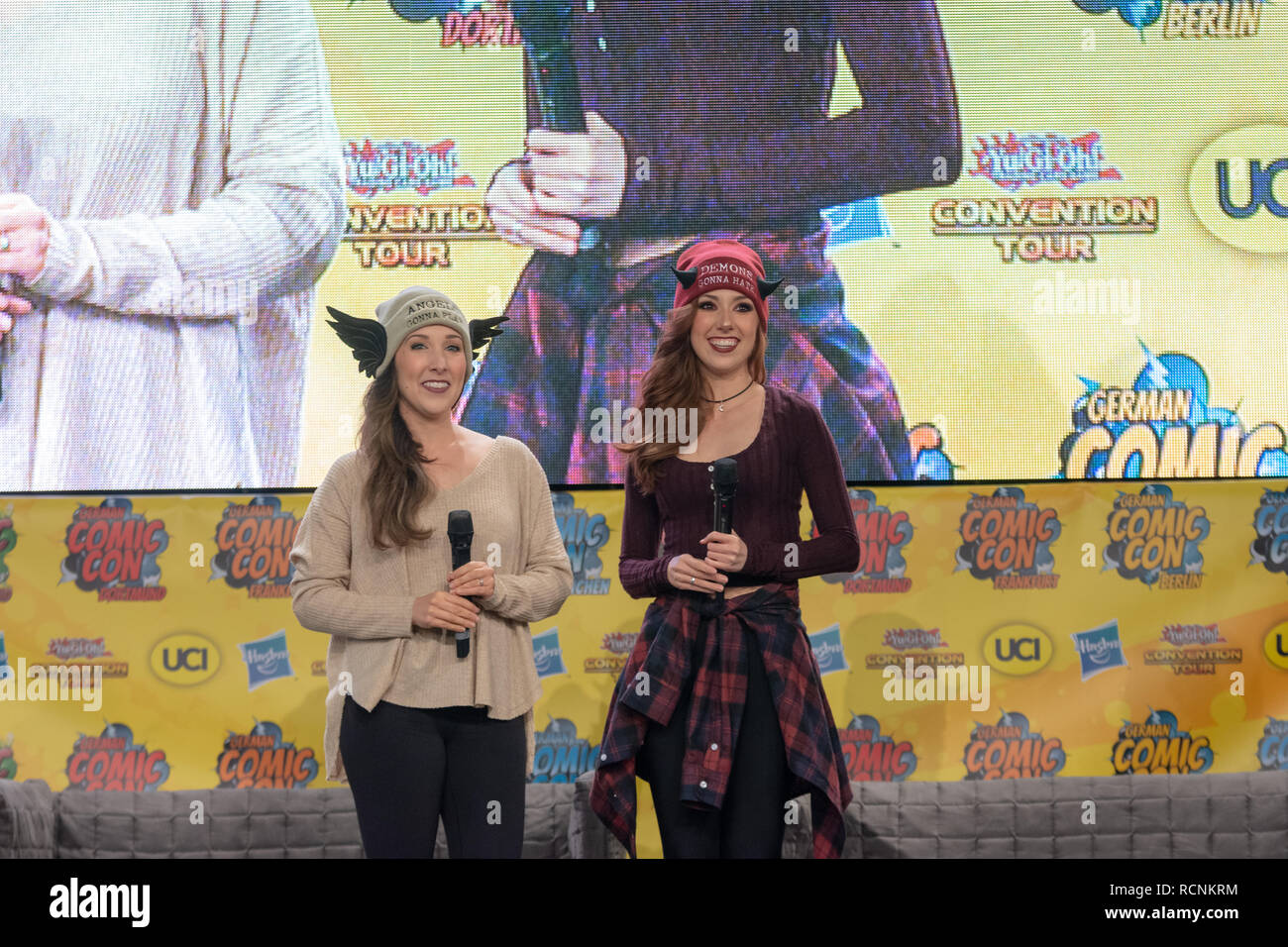 DORTMUND, GERMANY - December 1st 2018: The Hillywood Show at German Comic Con Dortmund, a two day fan convention - Stock Image