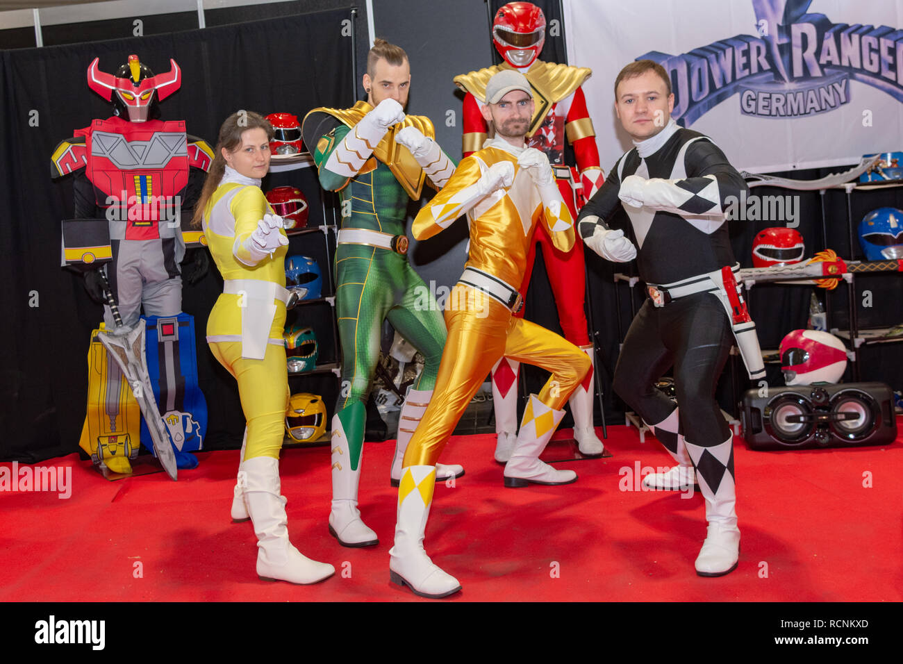 DORTMUND, GERMANY - December 1st 2018: Cosplayer at German Comic Con Dortmund, a two day fan convention - Stock Image
