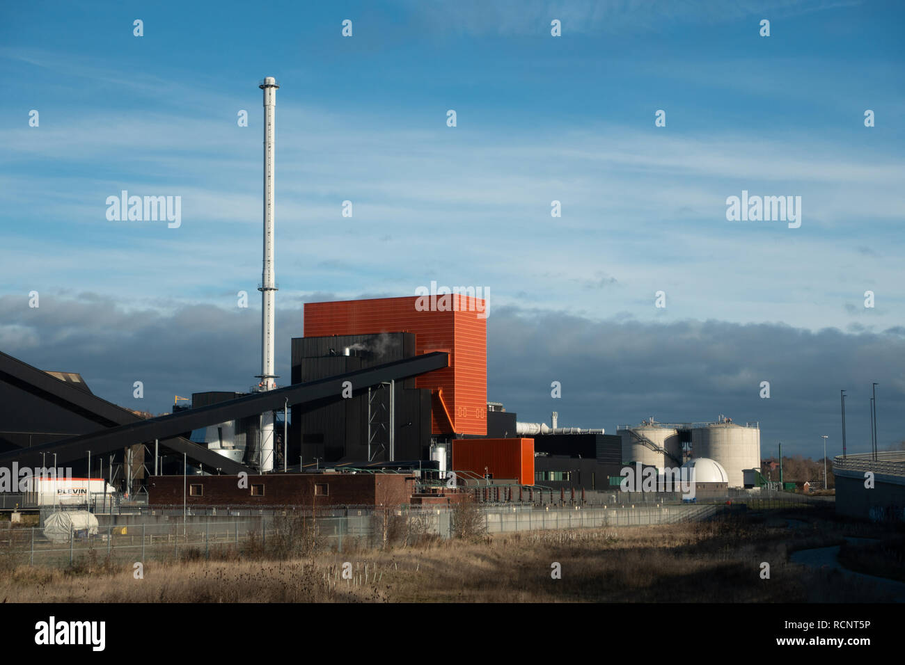 Blackburn Meadows Biomass Plant in the Lower Don Valley of Rotherham, South Yorkshire. - Stock Image