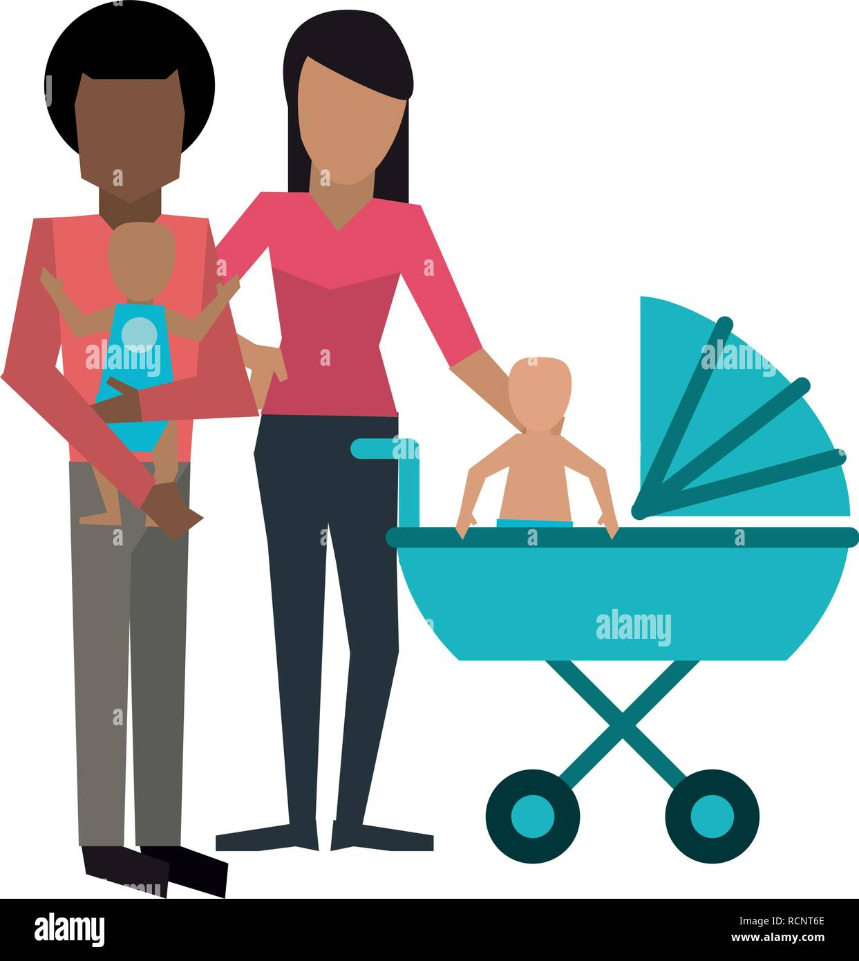 Family avatar concept - Stock Vector