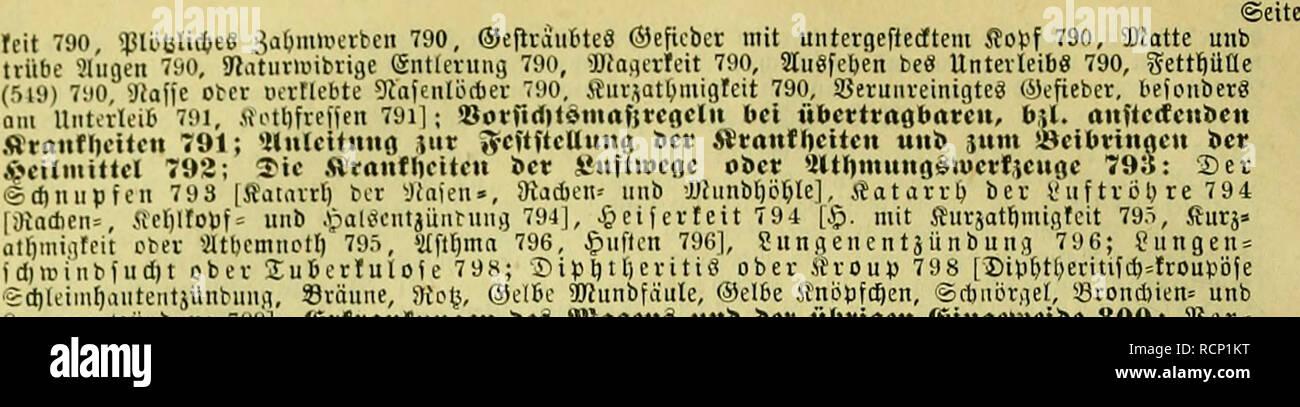 ". Die fremdländischen Stubenvögel ; ihre Naturgeschichte, Pflege, und Zucht. Cage birds. XXII Snijalt.. 'g(l)Utml)aiitciitjiiiibiiiui, »rniiiie, »toy, C4)cuu' 'jjüinotaiiie, («jeioe .Knopra)en, ssruuoriiei, '-övonwtcn» uno fuiuiciii'iiHiiiibniifl 7!i'.i ; ts-vfranfuiiflcn t>c^ »Inflcnö unb öcv übrtocu e^tiiflcuicibc 800: 58er = t a 11 u II ij e f dj ai ä'rt) c 800, ""ü I ä t) f ii * t 800 [aöiiitacf*»'iiUt, Vliif6täl;iin(j, *ölaffnfud)t, Slafifl auigetriebnet Sropf 801], yicrbauuiuiöftüi-uiigeu mit aKafleit» mit Dainicnt jünbu iifl 801 ['JJingeii» unb ©nvmfatarv - Stock Image"