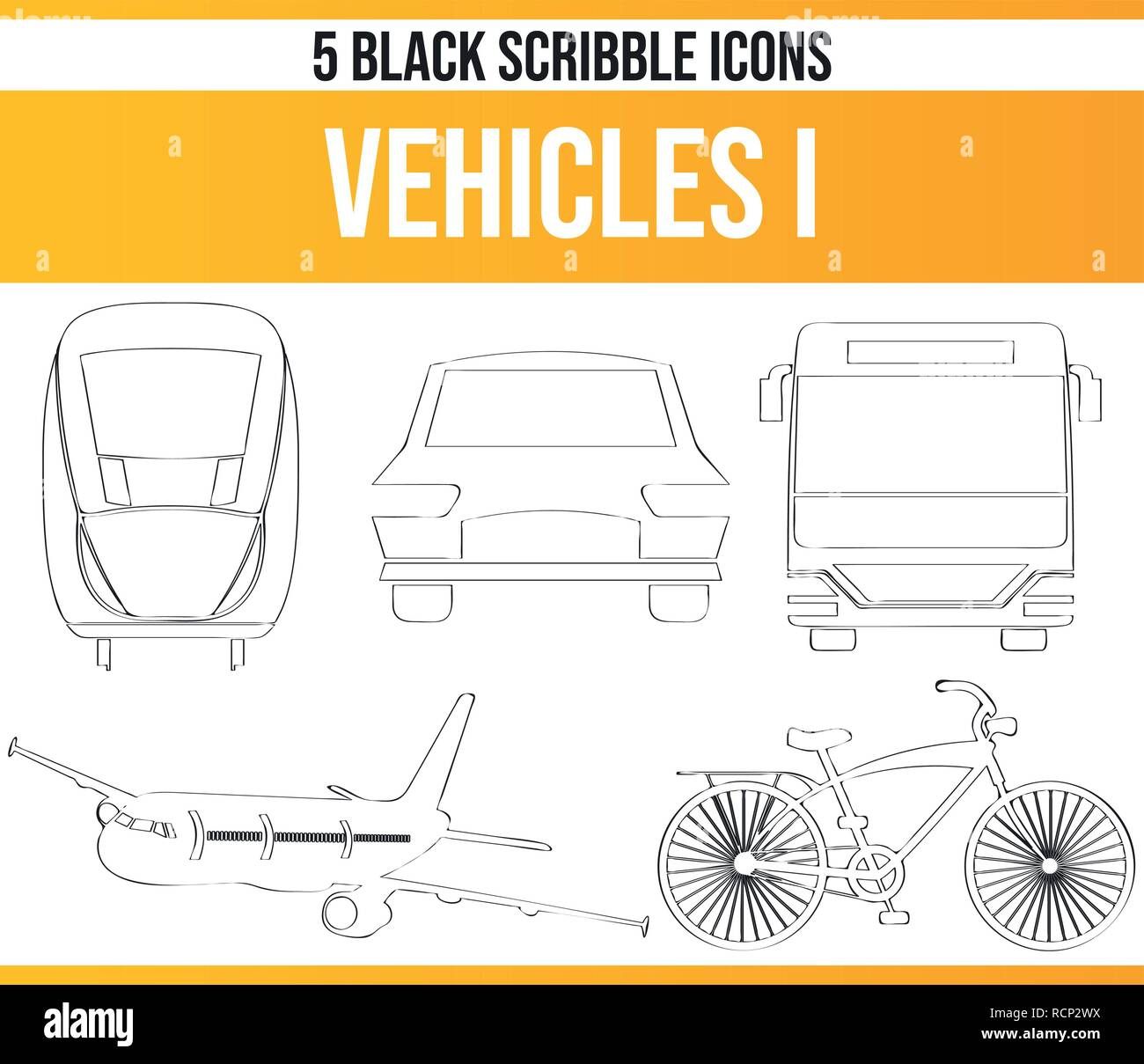 Black pictograms / icons on vehicles. This icon set is perfect for creative people and designers who need the theme of traveling in their graphic desi - Stock Vector