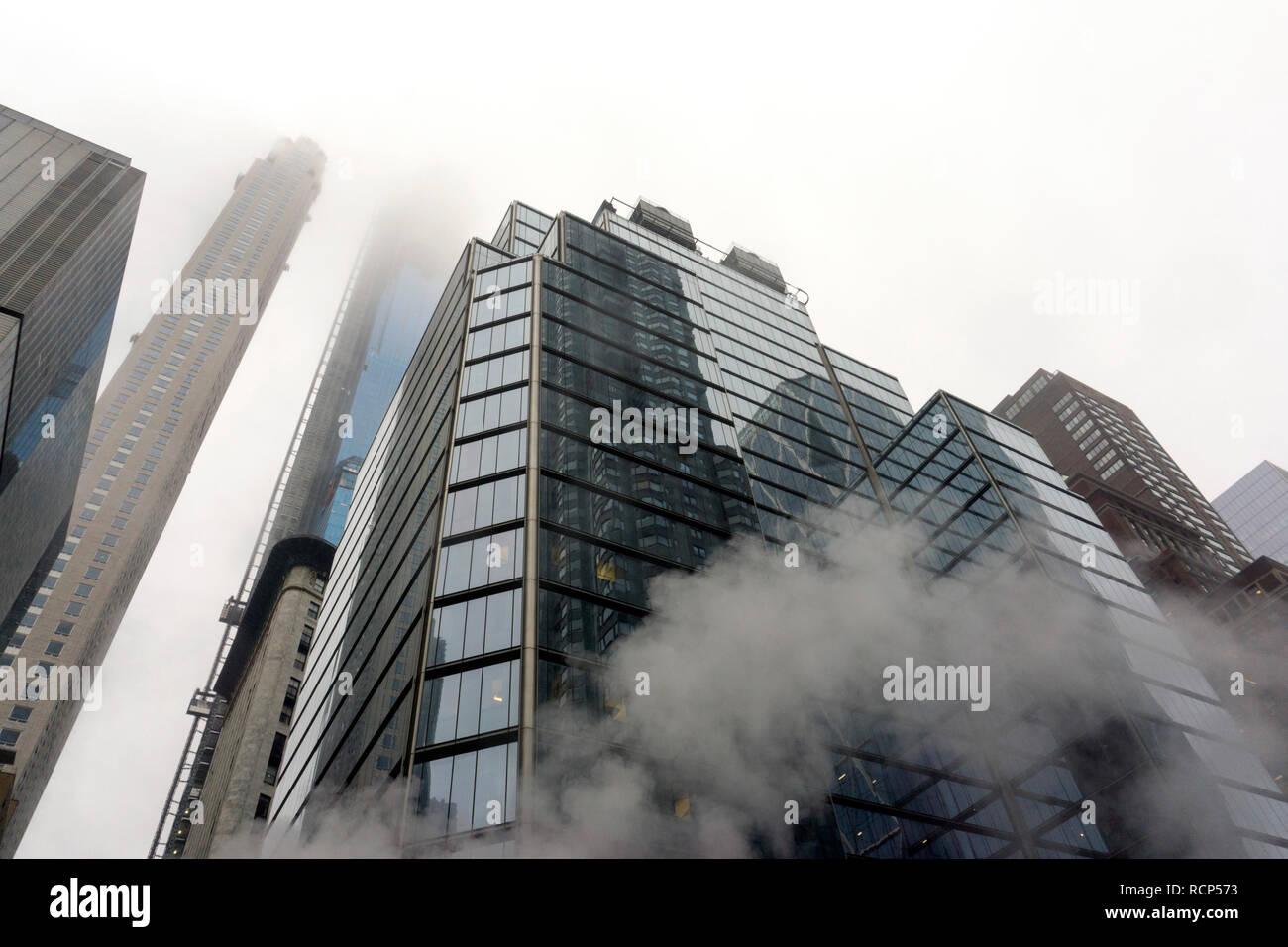 Skyscrapers, modern buildings in New York city - Stock Image