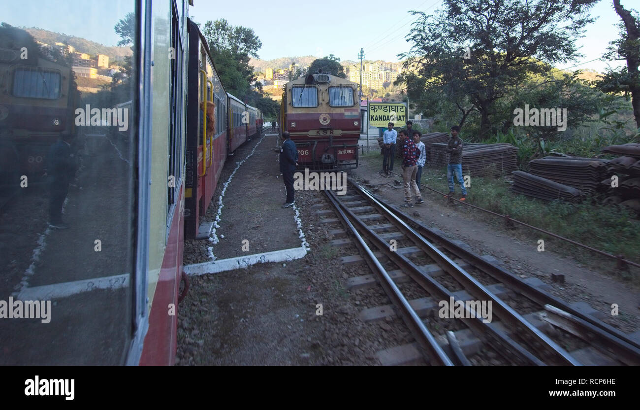 Shimla railway, Kandaghat junction. Stock Photo