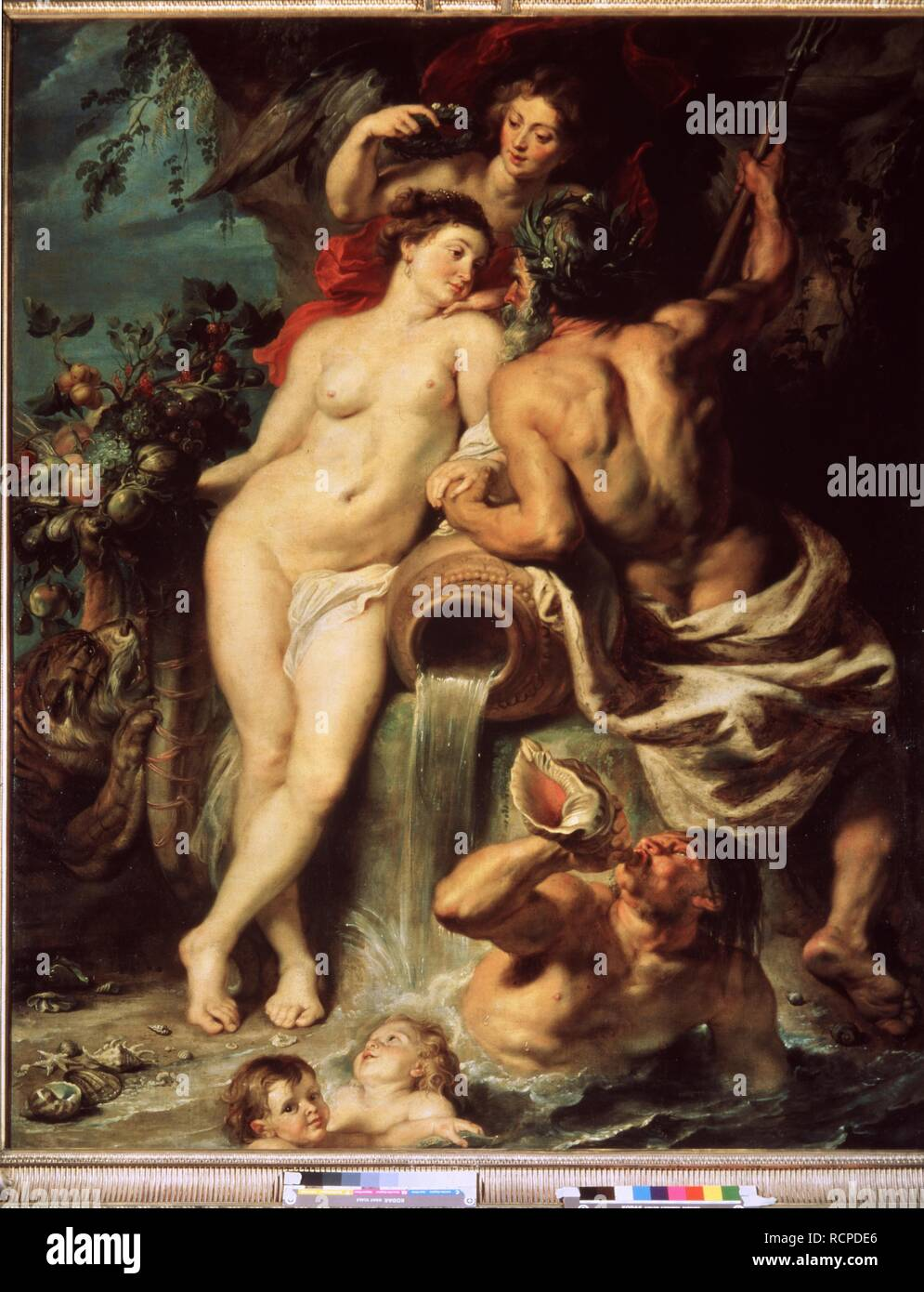 The Union of Earth and Water (Antwerp and the Scheldt). Museum: State Hermitage, St. Petersburg. Author: Rubens, Pieter Paul. - Stock Image