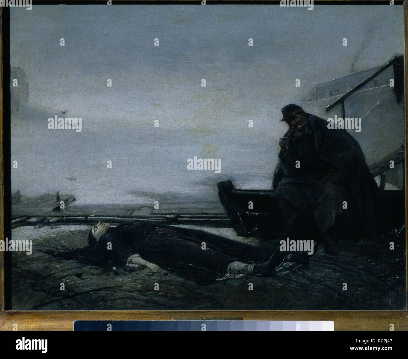 The Drowned. Museum: State Tretyakov Gallery, Moscow. Author: Perov, Vasili Grigoryevich. - Stock Image