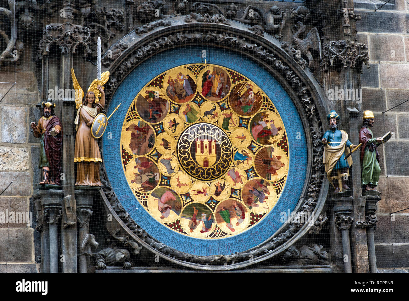 Prague. Czech Republic. Europe. Astrological old clock - Stock Image