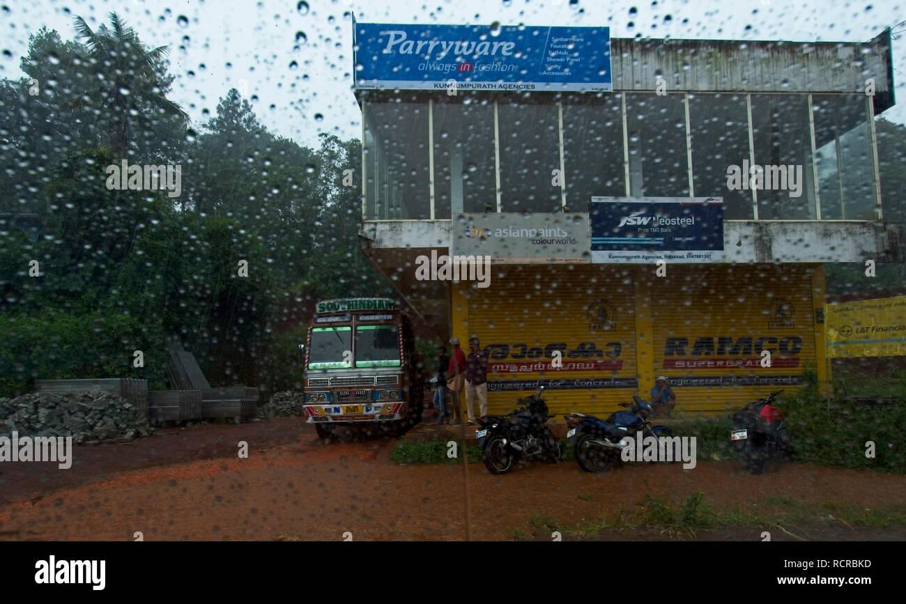 Enroute Madurai to Munnar. Stock Photo