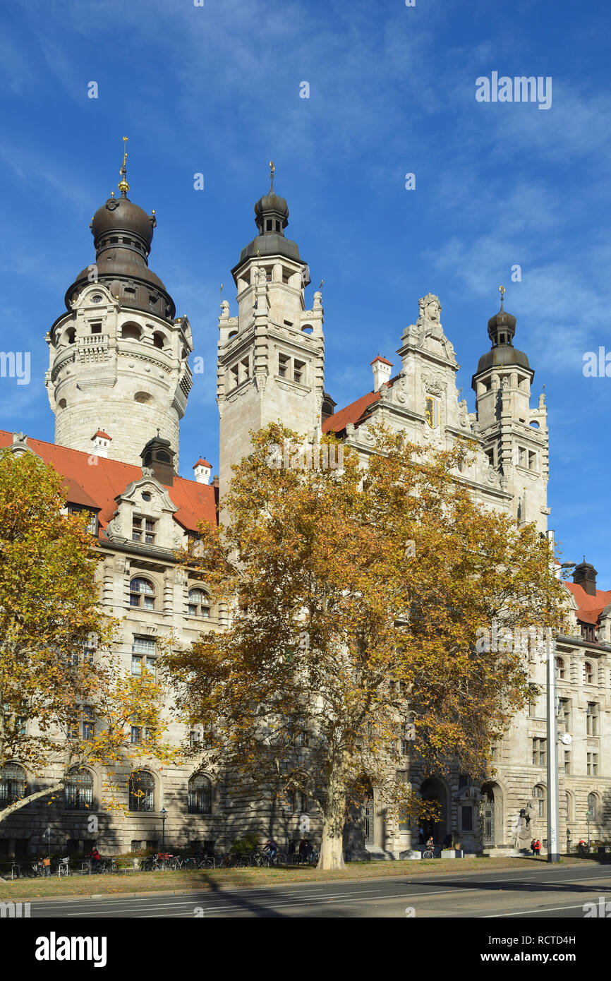 New Town Hall In The Saxon City Leipzig Germany Stock Photo Alamy