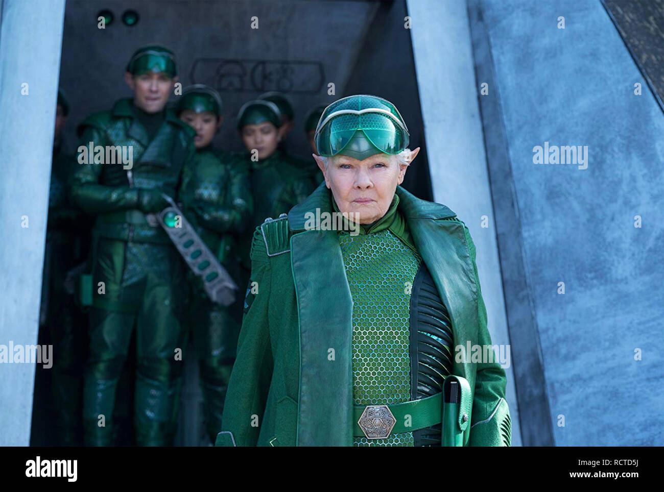 ARTEMIS FOWL 2019 Walt Disney Pictures film with Judy Dench as Commander Root - Stock Image