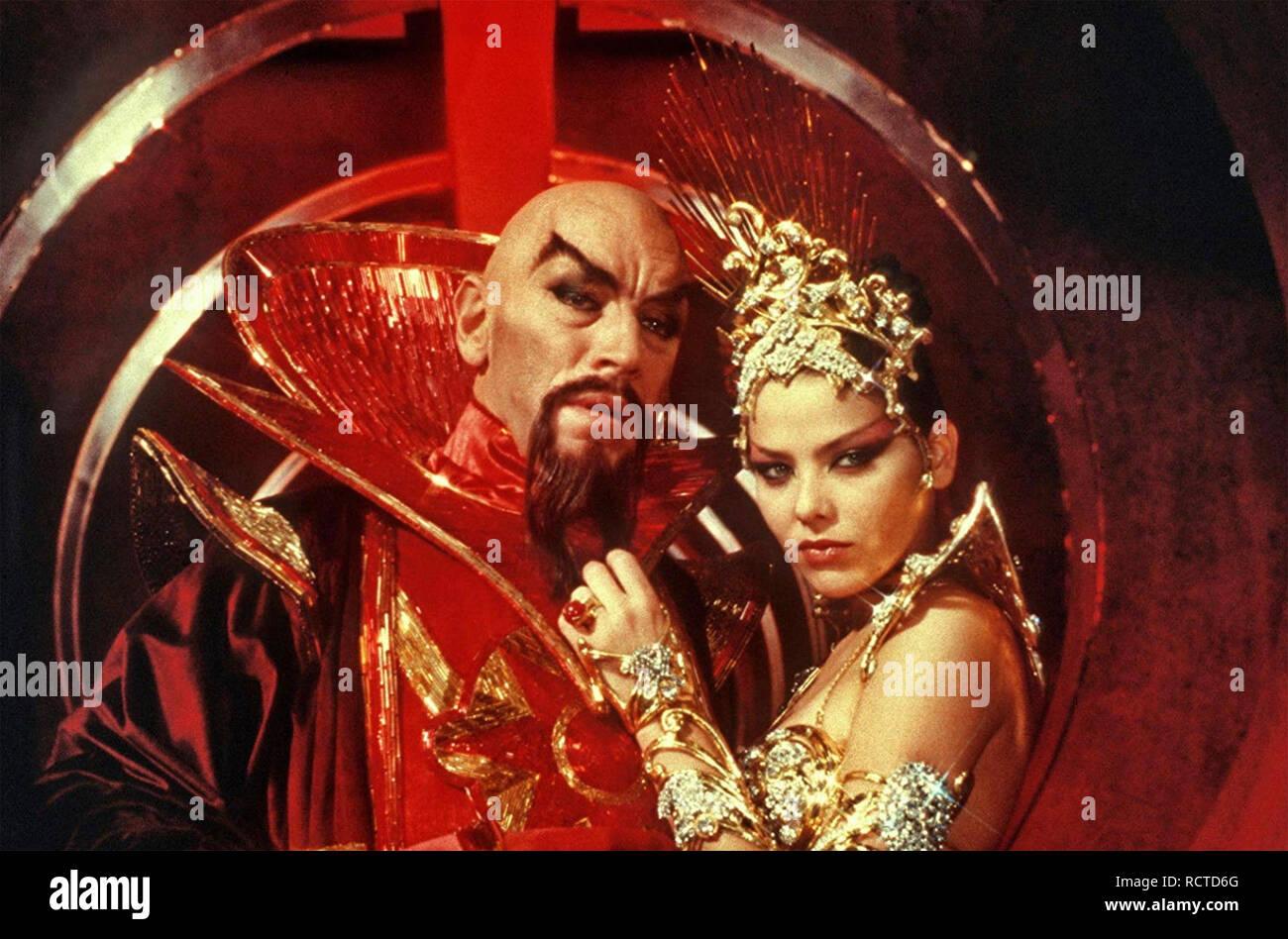 FLASH GORDON 1980 Universal film with from left: Max von Sydow and  Ornella Muti Stock Photo