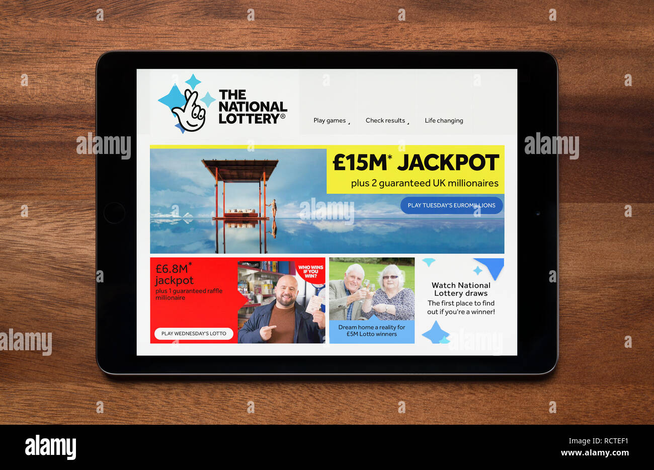 National Lottery App Stock Photos & National Lottery App Stock
