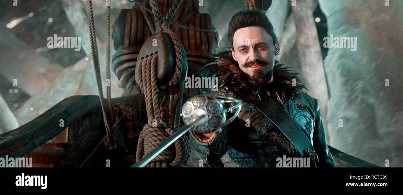 PAN 2015 Warner Bros film with Hugh Jackman - Stock Image