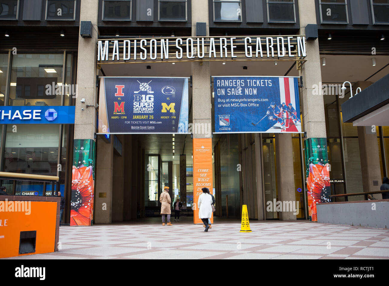 General View Gv Of Madison Square Garden Entrance In New York City