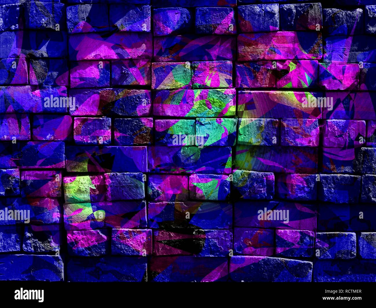 Colorful Mysterious World Abstract Expressionism Virtual