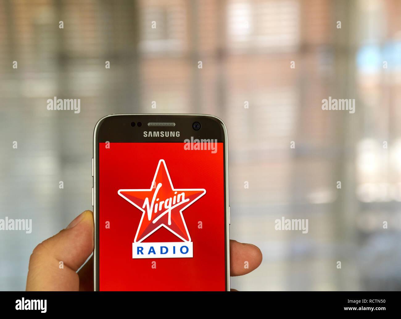 MONTREAL, CANADA - JUNE 24, 2016 : Virgin Radio android