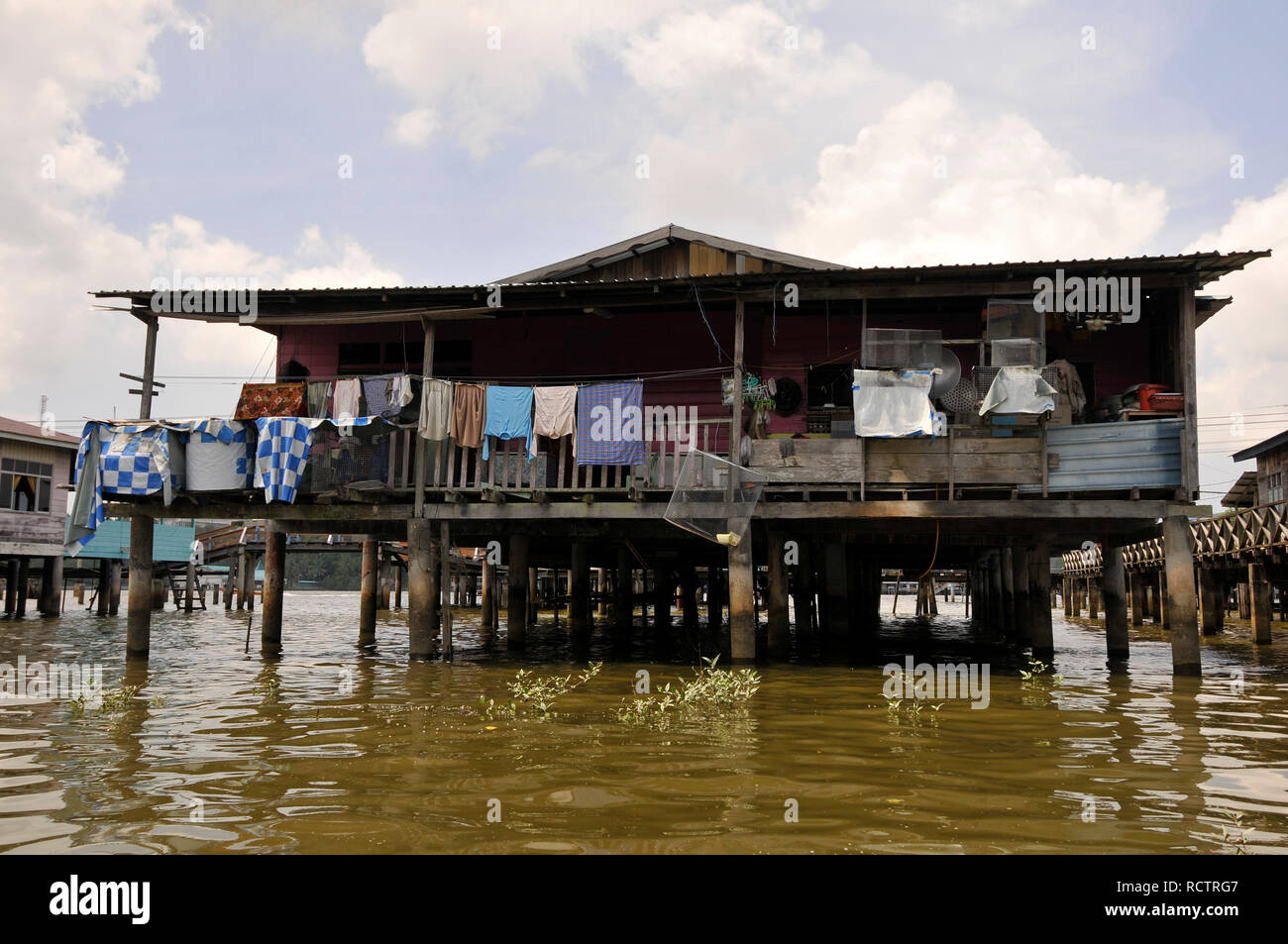 one of the house in Brunei water village - Stock Image
