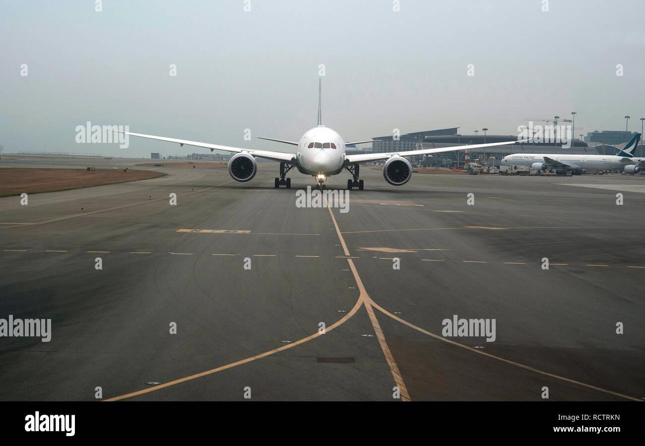 Airplane on the runway, Ninoy Aquino International airport