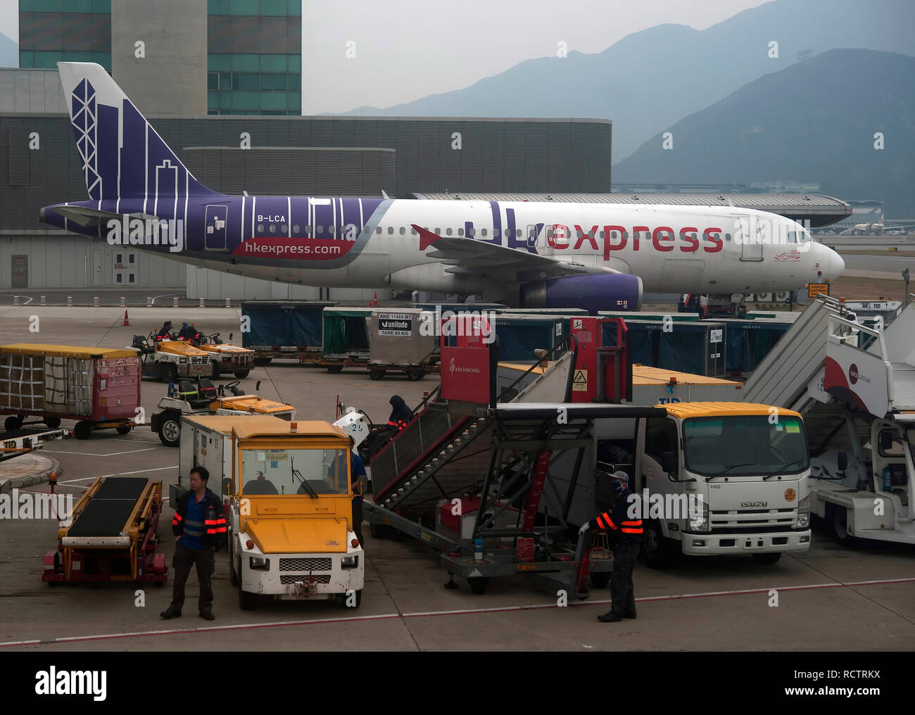 Hong Kong airport, China, South East Asia - Stock Image