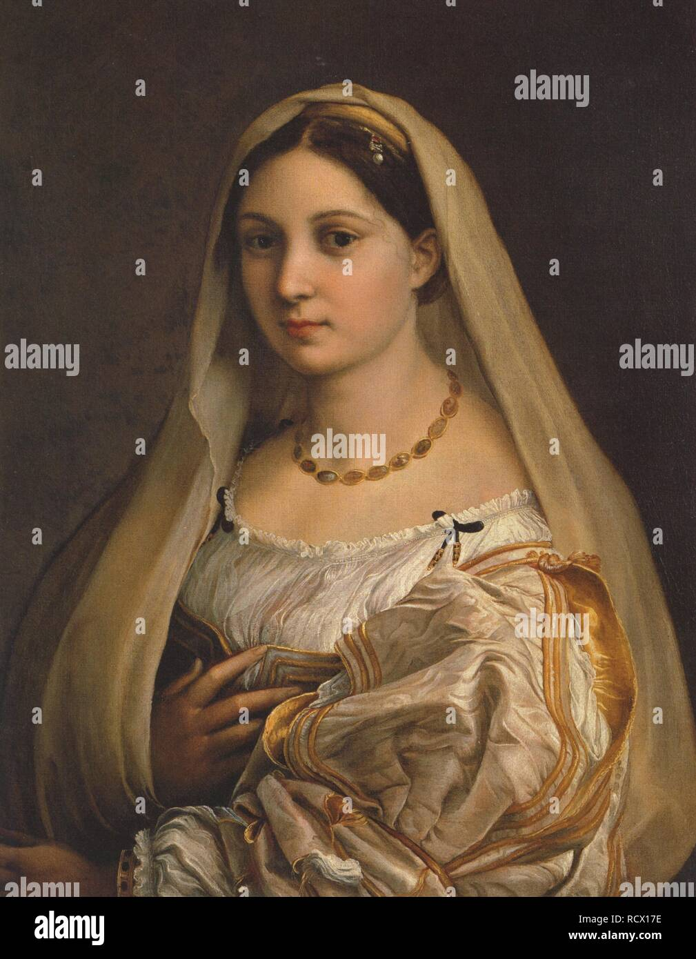 La donna velata (The woman with the veil). Museum: Palazzo Pitti, Florence. Author: Raphael (Raffaello Sanzio da Urbino). Stock Photo