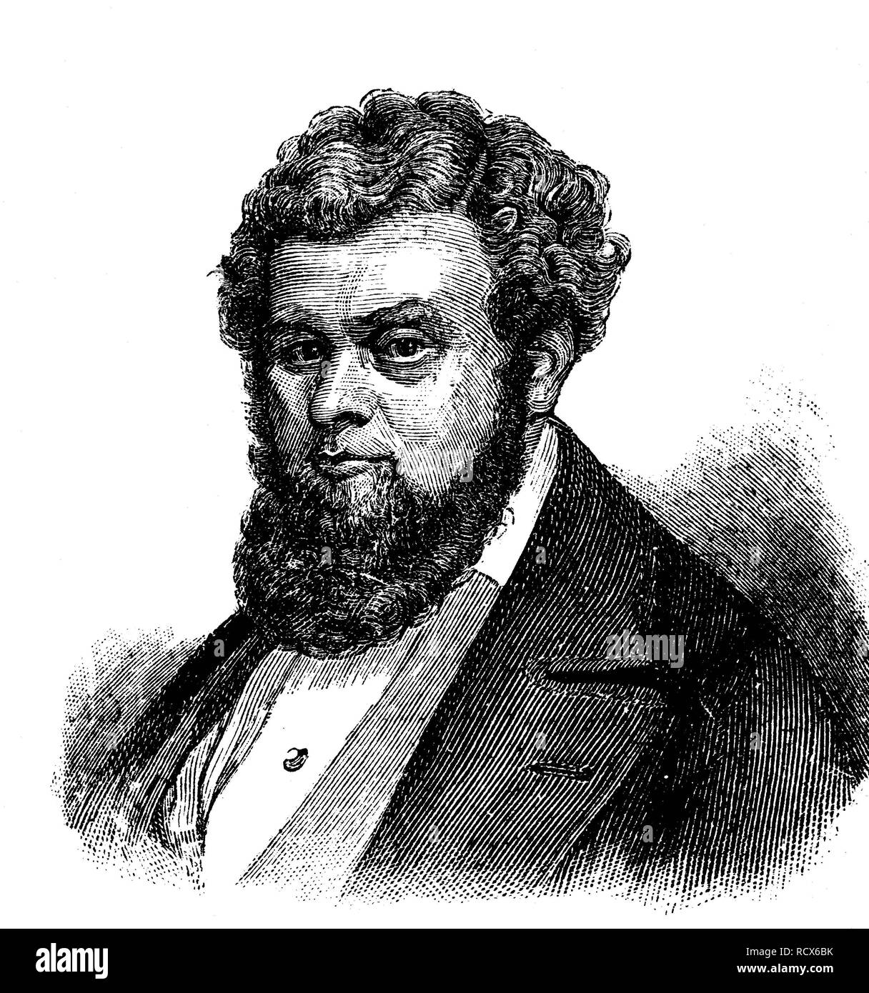 Robert Blum, 1807 - 1848, German politician, publicist, publisher and poet before and during the March Revolution of 1848 - Stock Image