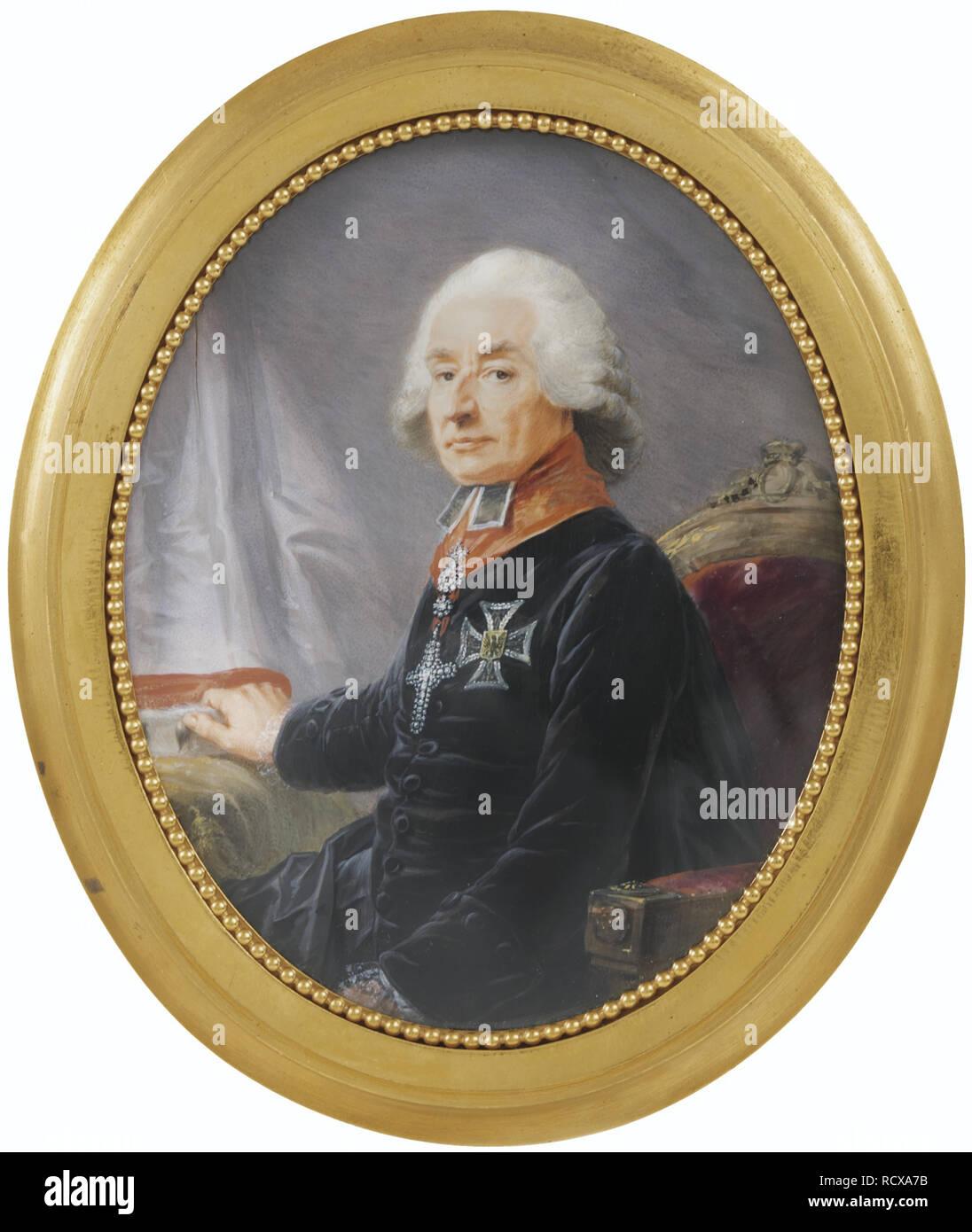 Portrait of Friedrich Karl Joseph Reichsfreiherr von Erthal (1719-1802). Museum: PRIVATE COLLECTION. Author: Füger, Heinrich Friedrich. Stock Photo