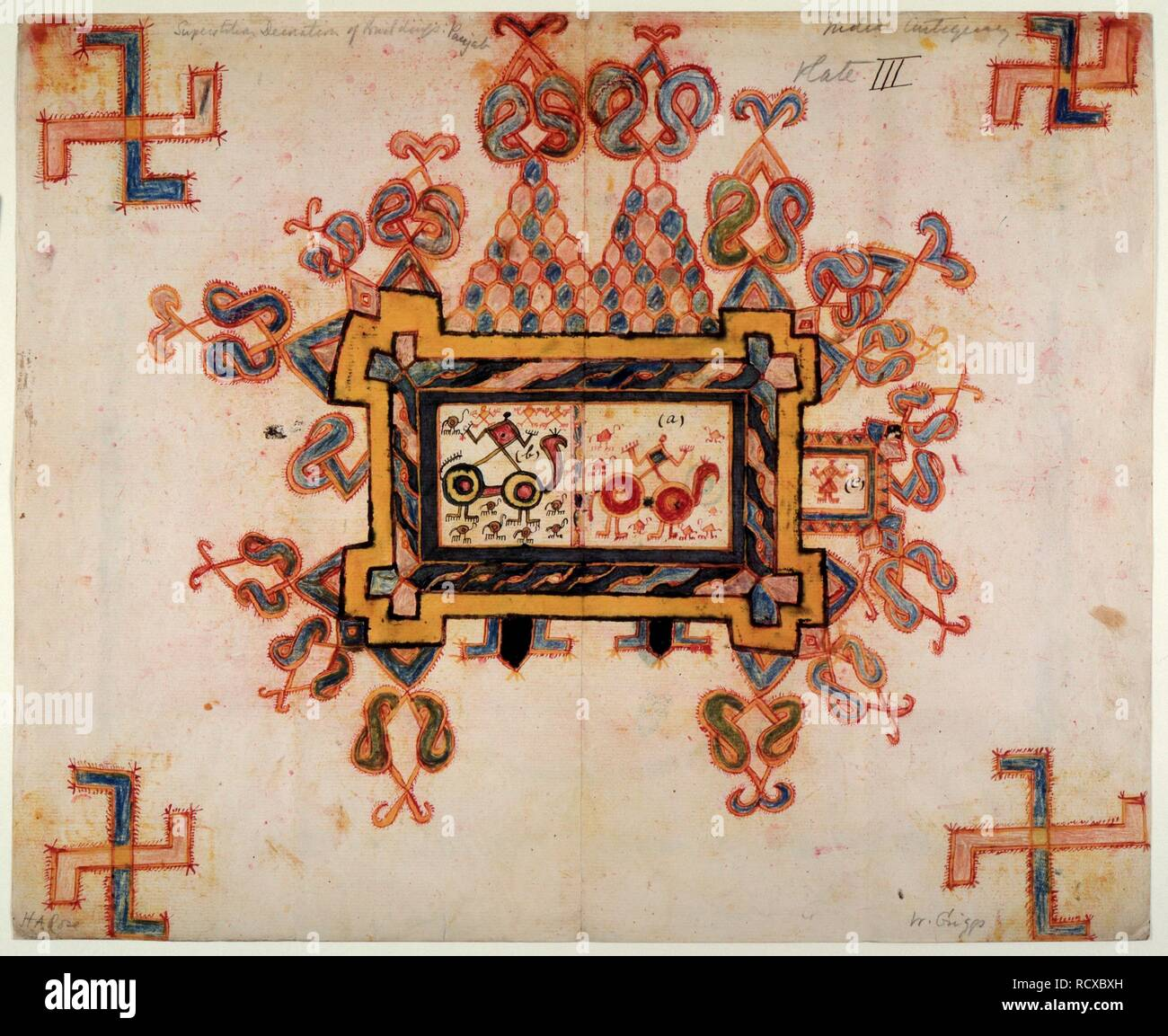 Drawing For A Wall Painting C 1905 Drawing For A Wall Painting For