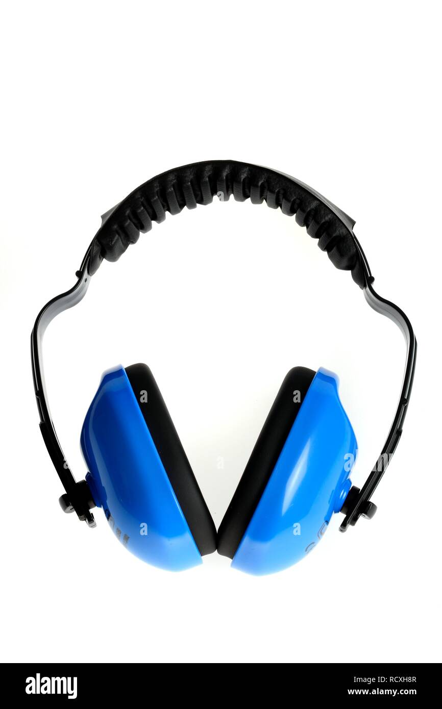 Hearing protection to protect against noise pollution - Stock Image