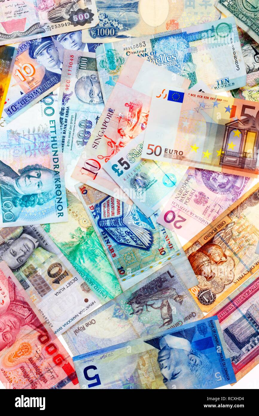 Different Currencies World High Resolution Stock Photography And Images Alamy