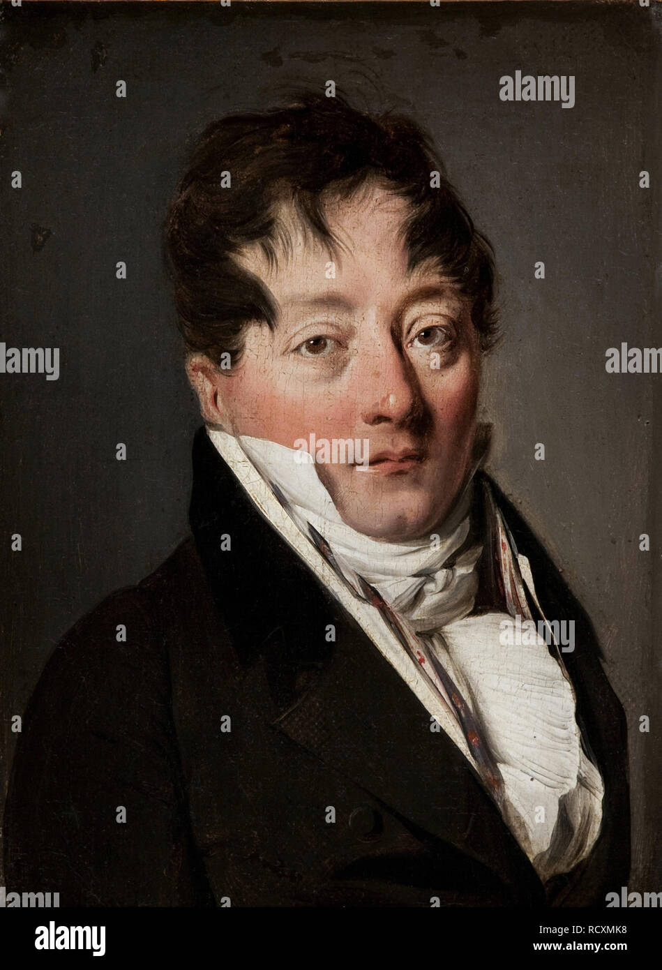 Portrait of Alexandre Balthazar Laurent Grimod de la Reynière (1758-1837). Museum: Musée Marmottan Monet, Paris. Author: Boilly, Louis-Leopold. - Stock Image