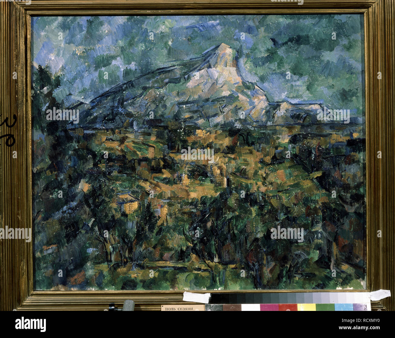 Landscape in Aix (Mont Sainte-Victoire). Museum: State A. Pushkin Museum of Fine Arts, Moscow. Author: CEZANNE, PAUL. Stock Photo