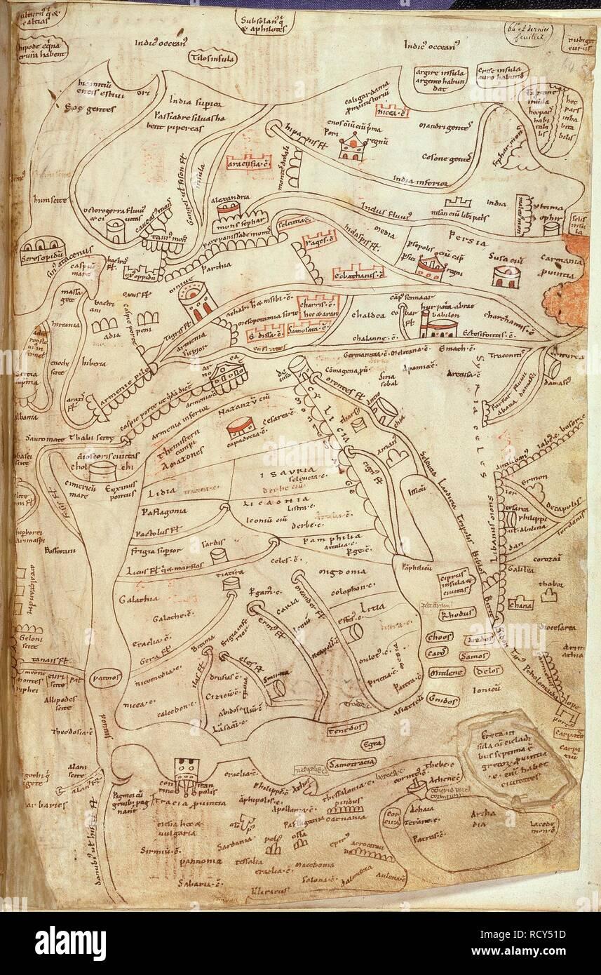 Jerome map of Asia. Works of St Jerome. France?; 12th century ... on russia map, korea map, texas map, china map, europe map, australia map, california map, japan map, maharashtra map, canada map, sri lanka map, arabian sea map, brazil map, karnataka map, andhra pradesh map, france map, indian subcontinent map, time zone map, africa map,
