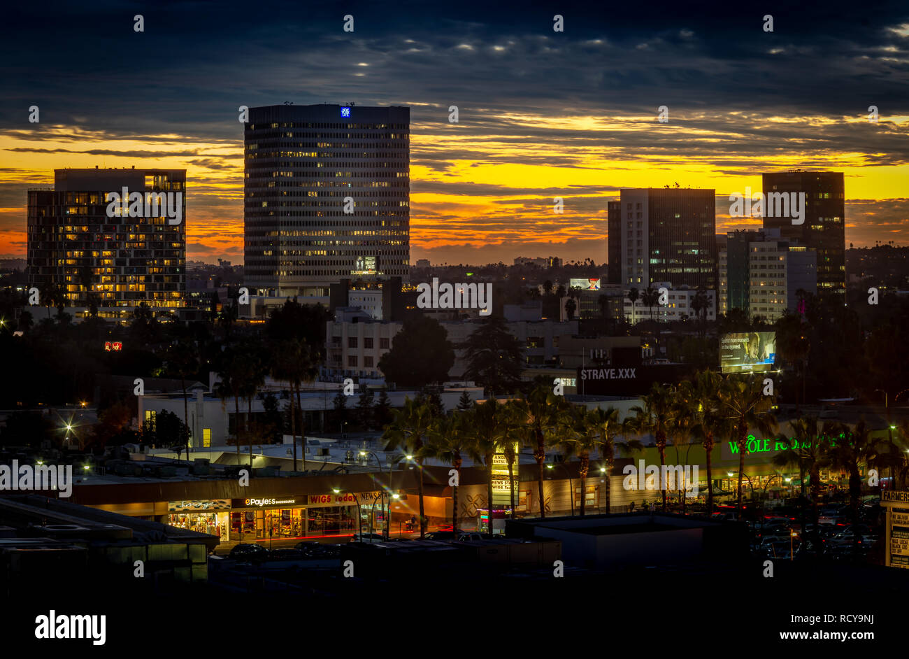 South to Wilshire Blvd - Stock Image