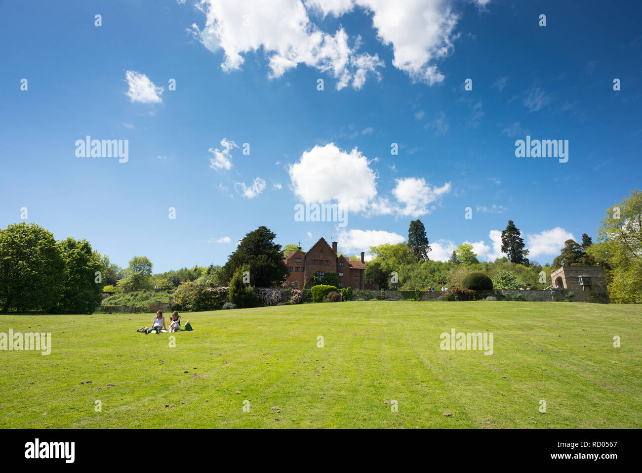 The gardens at Chartwell House near Westerham in Kent - Stock Image