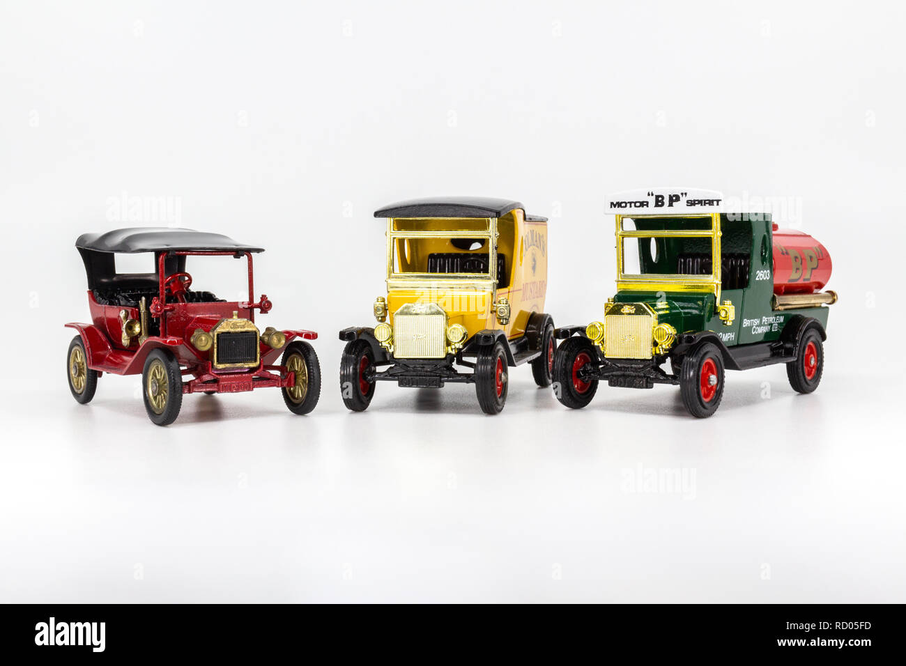 Matchbox Models of Yesteryear Ford Model T variations - Stock Image