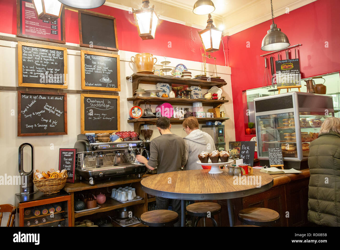 Interior Of A Cafe Coffee Shop In Stockbridgeedinburgh