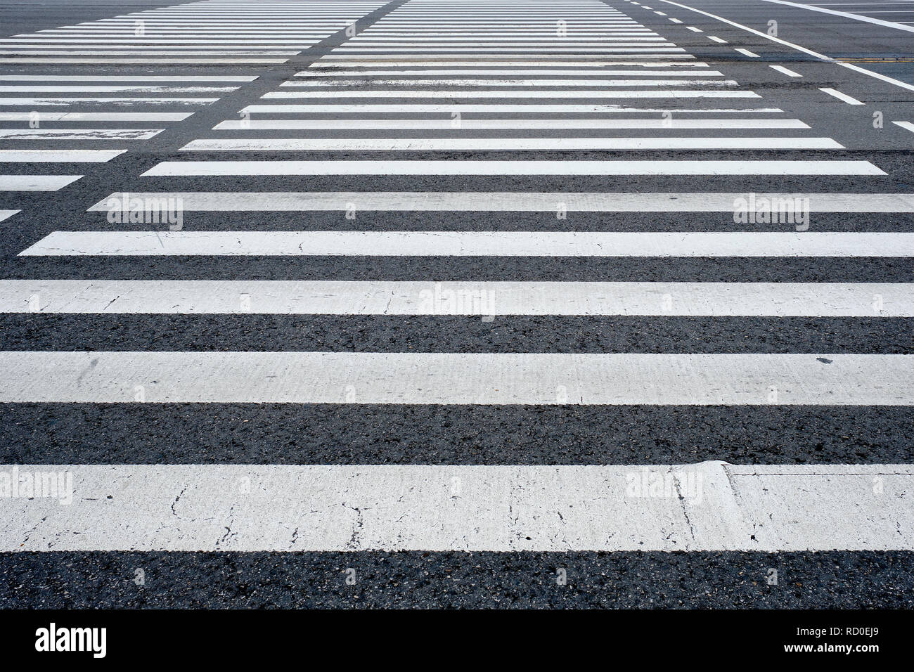 Crosswalk pedestrian crossing in the street - Stock Image