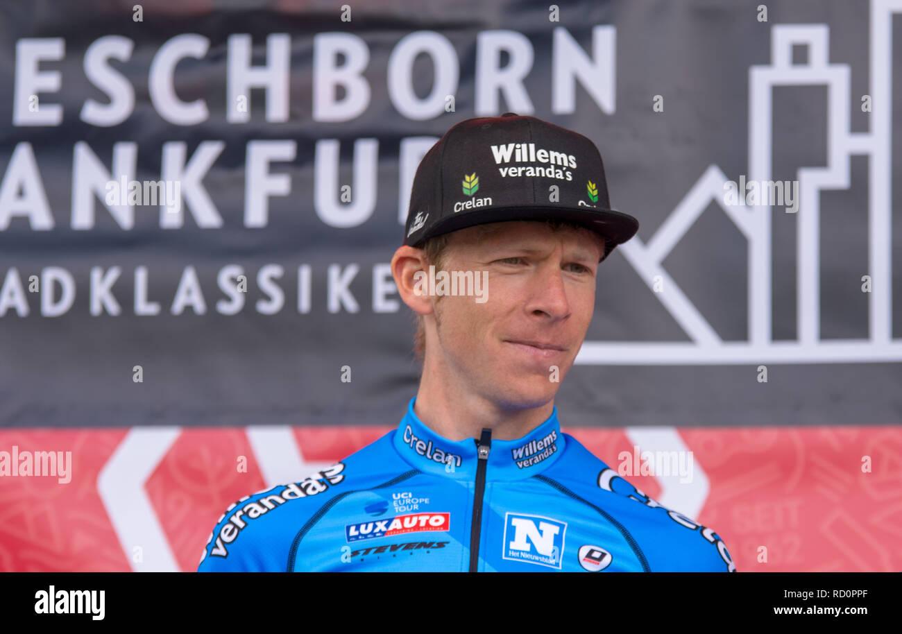 ESCHBORN, GERMANY - MAY 1st 2018: Huub Duijn (Vérandas Willems-Crelan) at Eschborn-Frankfurt cycling race - Stock Image