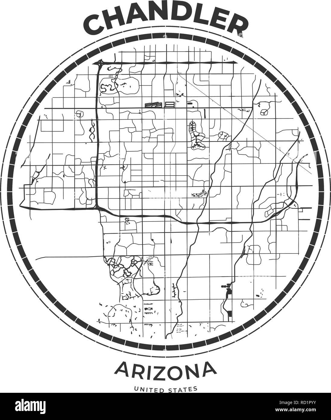 T-shirt map badge of Chandler, Arizona. Tee shirt print ... on santa fe arizona map, tempe arizona map, atlanta arizona map, rainbow valley arizona map, riverside arizona map, boise arizona map, dragoon arizona map, klondyke arizona map, tent city arizona map, secret canyon arizona map, jackson arizona map, mesquite arizona map, wittmann arizona map, many farms arizona map, elfrida arizona map, reno arizona map, perry high school arizona map, humboldt arizona map, wilson arizona map, havasu city arizona map,