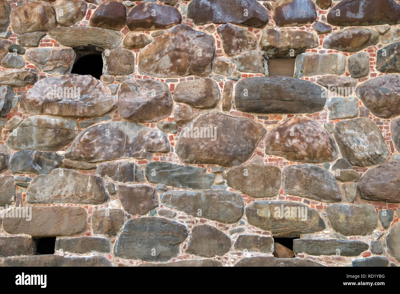 Part of the wall of the Spaso-Preobrazhensky Solovetsky Monastery. Solovetsky archipelago, White Sea, Russia Stock Photo